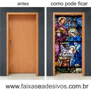 Porta decorada Vitral Igreja