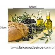 Decorativo de Cozinha placa azeite e pão