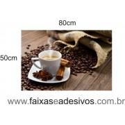 Adesivo Decorativo café e grãos com aniz e canela