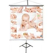 Banner Massagem em Bebê 0,65 x 0,65