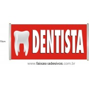 Faixa Impressa Dentista Vermelha
