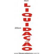 Adesivo Liquidação Vertical Recorte 200x45cm