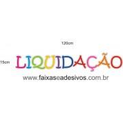 Adesivo Liquidação Letras coloridas 120x15cm
