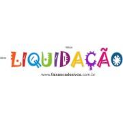 Adesivo letras coloridas LIQUIDAÇÃO - vários tamanhos