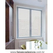 108 - Adesivo jateado para vidro - estilo persiana 90x60cm - Kit 2 peças