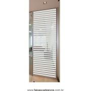110 - Adesivo jateado para vidros 220x70cm estilo persiana - tiras de 5cm e vão de 0,5cm