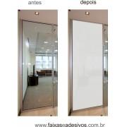 104 - Adesivo jateado inteiro para vidro - 220x70cm