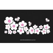 Flores com Borboletas Conto de Fadas 1,20 x 0,55m