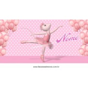 Painel de Aniversário 003 Angelina Bailarina 2x1