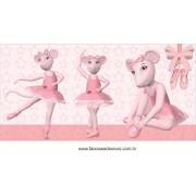 Painel de Aniversário 004 Angelina Bailarina 200x140