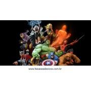 Painel de Aniversário 012 Avengers - 1x2m