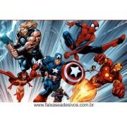 painel de Aniversário 014 Avengers - 1,00x1,50m