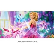 Painel de Aniversário 019 Barbie 1x2m