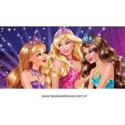 painel de aniversário 021 Barbie 1x2m