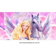 Painel de aniversário 025 Barbie - 1x2m