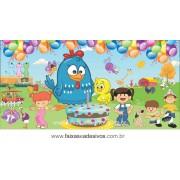 Painel de aniversário 045 Galinha Pintadinha - 1,00x2,00m