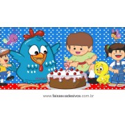Painel de aniversário 049 Galinha Pintadinha - 1,00x2,00m