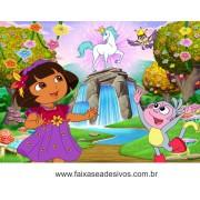 Painel de aniversário 052 Dora Aventureira 1,00x1,40m