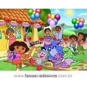 Painel de aniversário 053 Dora Aventureira 1,00x1,40m