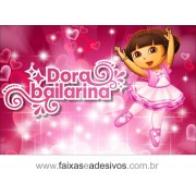 Painel de aniversário 055 Dora Aventureira 1,00x1,50m