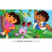 Painel de aniversário 057 Dora Aventureira 1,00x1,80m