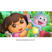 Painel de aniversário 058 Dora Aventureira 1,00x2,00m