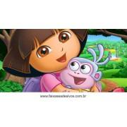 Painel de aniversário 060 Dora Aventureira 1,00x2,00m