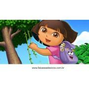 Painel de aniversário 061 Dora Aventureira 1,00x2,00m