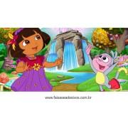 Painel de aniversário 064 Dora Aventureira 1,00x2,00m
