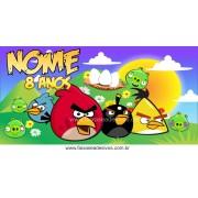 Painel de aniversário 073 Angry Bird 1,00x2,00m