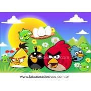 Painel de aniversário 074 Angry Bird 1,00x1,50m