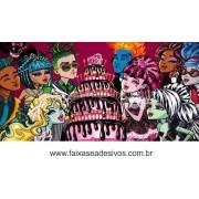 Painel de Aniversário 095 Monster High 1,00x2,00m