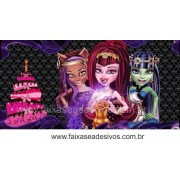 Painel de Aniversário 097 Monster High 1,00x2,00m