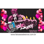 Painel de Aniversário 100 Monster High 1,00x1,80m