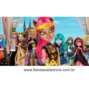 Painel de Aniversário 101 Monster High 1,00x1,80m