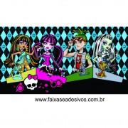 Painel de Aniversário 106 Monster High 1,00x1,90m