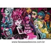 Painel de Aniversário 108 Monster High 1,00x1,60m