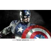 Painel de Aniversário 112 Capitão América 1,00x1,80m