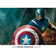 Painel de Aniversário 113 Capitão América 1,00x1,50m