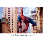 Painel de Aniversário 120 Homem Aranha 1,00x1,60m