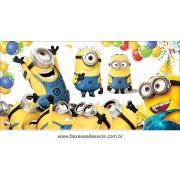 Painel de Aniversário 126 Minions 1,00x2,00m