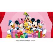 Painel de Aniversário 132 Minnie e Mickey 1,00x2,00m