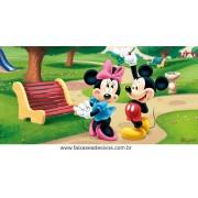 Painel de Aniversário 134 Minnie e Mickey 1,00x2,00m