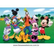 Painel de Aniversário 133 Minnie e Mickey 1,00x1,50m