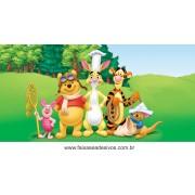 Painel de Aniversário 169 Pooh 1,00x2,00m