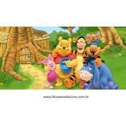 Painel de Aniversário 170 Pooh 1,00x2,00m