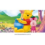 Painel de Aniversário 171 Pooh 1,00x2,00m