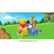 Painel de Aniversário 172 Pooh 1,00x2,00m