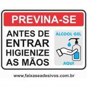 Adesivo Covid19 Alcool em Gel