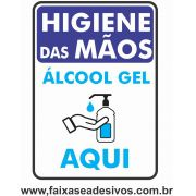 Adesivo Covid19 Álcool em Gel vertical